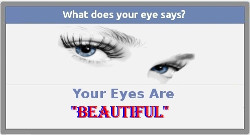 Find what your eyes says