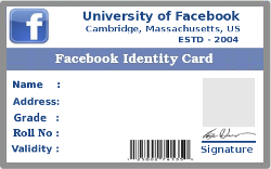 Create your FB identity card